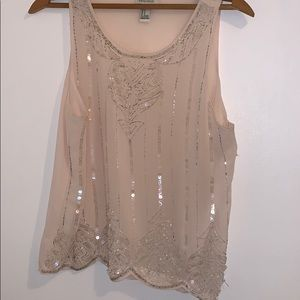 Forever 21 soft pink jewel blouse